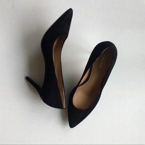 Calvin Klein Gayle black suede pumps Size 9